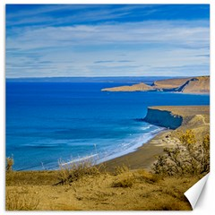 Seascape View From Punta Del Marquez Viewpoint, Chubut, Argentina Canvas 20  x 20