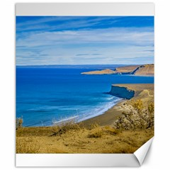 Seascape View From Punta Del Marquez Viewpoint, Chubut, Argentina Canvas 20  x 24