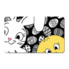 Easter bunny and chick  Magnet (Rectangular)