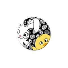 Easter bunny and chick  Golf Ball Marker (10 pack)