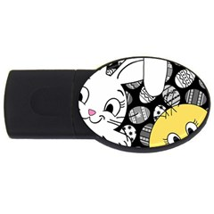 Easter bunny and chick  USB Flash Drive Oval (2 GB)