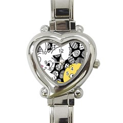 Easter bunny and chick  Heart Italian Charm Watch