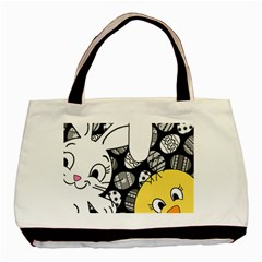 Easter bunny and chick  Basic Tote Bag (Two Sides)