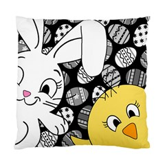 Easter bunny and chick  Standard Cushion Case (Two Sides)