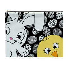Easter bunny and chick  Cosmetic Bag (XL)