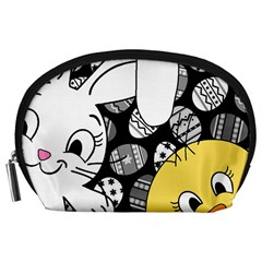 Easter bunny and chick  Accessory Pouches (Large)