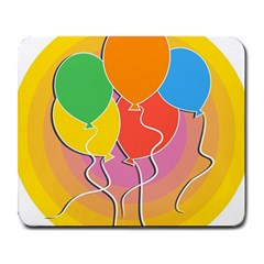 Birthday Party Balloons Colourful Cartoon Illustration Of A Bunch Of Party Balloon Large Mousepads