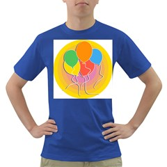 Birthday Party Balloons Colourful Cartoon Illustration Of A Bunch Of Party Balloon Dark T Shirt
