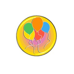 Birthday Party Balloons Colourful Cartoon Illustration Of A Bunch Of Party Balloon Hat Clip Ball Marker (10 pack)