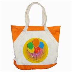 Birthday Party Balloons Colourful Cartoon Illustration Of A Bunch Of Party Balloon Accent Tote Bag