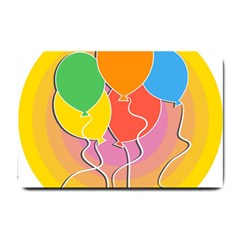 Birthday Party Balloons Colourful Cartoon Illustration Of A Bunch Of Party Balloon Small Doormat