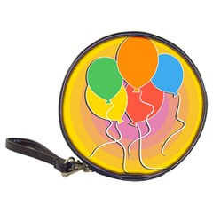 Birthday Party Balloons Colourful Cartoon Illustration Of A Bunch Of Party Balloon Classic 20 Cd Wallets