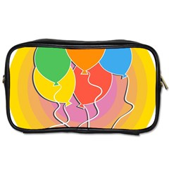 Birthday Party Balloons Colourful Cartoon Illustration Of A Bunch Of Party Balloon Toiletries Bags