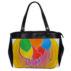 Birthday Party Balloons Colourful Cartoon Illustration Of A Bunch Of Party Balloon Office Handbags
