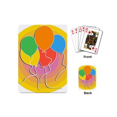 Birthday Party Balloons Colourful Cartoon Illustration Of A Bunch Of Party Balloon Playing Cards (Mini)