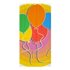 Birthday Party Balloons Colourful Cartoon Illustration Of A Bunch Of Party Balloon Shower Curtain 36  X 72  (stall)