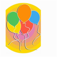 Birthday Party Balloons Colourful Cartoon Illustration Of A Bunch Of Party Balloon Large Garden Flag (two Sides)