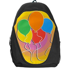 Birthday Party Balloons Colourful Cartoon Illustration Of A Bunch Of Party Balloon Backpack Bag