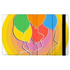 Birthday Party Balloons Colourful Cartoon Illustration Of A Bunch Of Party Balloon Apple iPad 2 Flip Case
