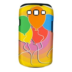 Birthday Party Balloons Colourful Cartoon Illustration Of A Bunch Of Party Balloon Samsung Galaxy S III Classic Hardshell Case (PC+Silicone)