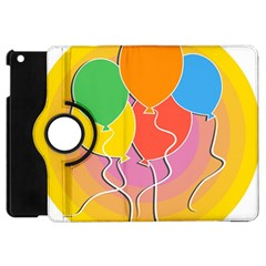 Birthday Party Balloons Colourful Cartoon Illustration Of A Bunch Of Party Balloon Apple iPad Mini Flip 360 Case