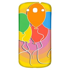 Birthday Party Balloons Colourful Cartoon Illustration Of A Bunch Of Party Balloon Samsung Galaxy S3 S Iii Classic Hardshell Back Case