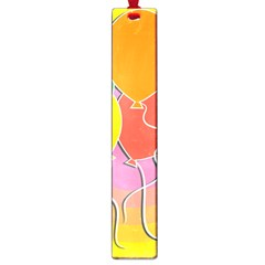 Birthday Party Balloons Colourful Cartoon Illustration Of A Bunch Of Party Balloon Large Book Marks