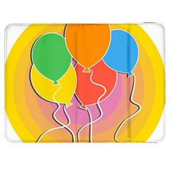 Birthday Party Balloons Colourful Cartoon Illustration Of A Bunch Of Party Balloon Samsung Galaxy Tab 7  P1000 Flip Case