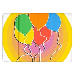 Birthday Party Balloons Colourful Cartoon Illustration Of A Bunch Of Party Balloon Samsung Galaxy Tab 8 9  P7300 Flip Case