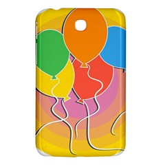 Birthday Party Balloons Colourful Cartoon Illustration Of A Bunch Of Party Balloon Samsung Galaxy Tab 3 (7 ) P3200 Hardshell Case