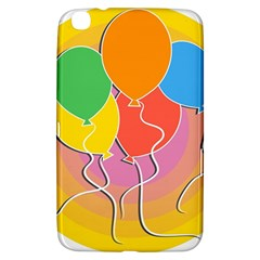 Birthday Party Balloons Colourful Cartoon Illustration Of A Bunch Of Party Balloon Samsung Galaxy Tab 3 (8 ) T3100 Hardshell Case