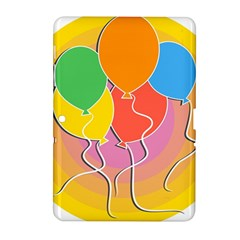 Birthday Party Balloons Colourful Cartoon Illustration Of A Bunch Of Party Balloon Samsung Galaxy Tab 2 (10.1 ) P5100 Hardshell Case