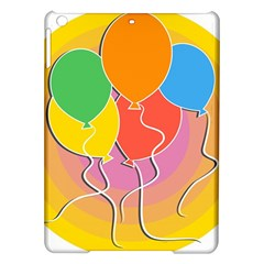 Birthday Party Balloons Colourful Cartoon Illustration Of A Bunch Of Party Balloon iPad Air Hardshell Cases