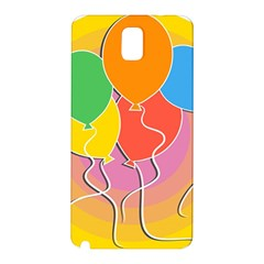 Birthday Party Balloons Colourful Cartoon Illustration Of A Bunch Of Party Balloon Samsung Galaxy Note 3 N9005 Hardshell Back Case