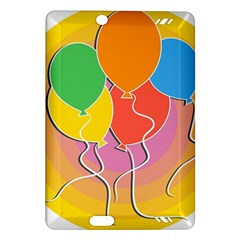 Birthday Party Balloons Colourful Cartoon Illustration Of A Bunch Of Party Balloon Amazon Kindle Fire HD (2013) Hardshell Case