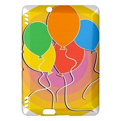 Birthday Party Balloons Colourful Cartoon Illustration Of A Bunch Of Party Balloon Kindle Fire HDX Hardshell Case