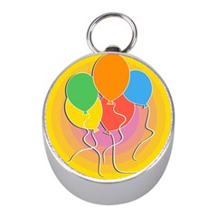 Birthday Party Balloons Colourful Cartoon Illustration Of A Bunch Of Party Balloon Mini Silver Compasses