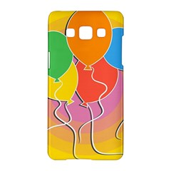 Birthday Party Balloons Colourful Cartoon Illustration Of A Bunch Of Party Balloon Samsung Galaxy A5 Hardshell Case