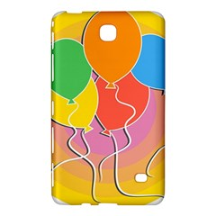 Birthday Party Balloons Colourful Cartoon Illustration Of A Bunch Of Party Balloon Samsung Galaxy Tab 4 (8 ) Hardshell Case