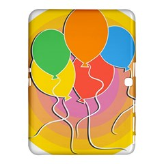 Birthday Party Balloons Colourful Cartoon Illustration Of A Bunch Of Party Balloon Samsung Galaxy Tab 4 (10 1 ) Hardshell Case