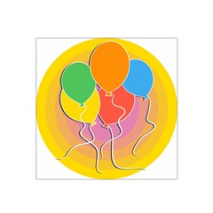 Birthday Party Balloons Colourful Cartoon Illustration Of A Bunch Of Party Balloon Satin Bandana Scarf