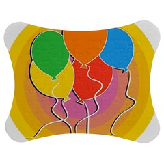 Birthday Party Balloons Colourful Cartoon Illustration Of A Bunch Of Party Balloon Jigsaw Puzzle Photo Stand (Bow)