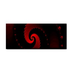 Red Fractal Spiral Cosmetic Storage Cases