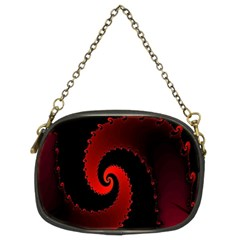 Red Fractal Spiral Chain Purses (two Sides)