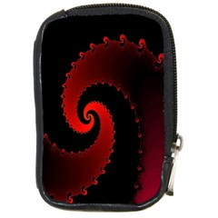 Red Fractal Spiral Compact Camera Cases
