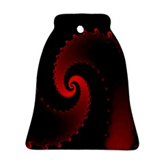 Red Fractal Spiral Bell Ornament (two Sides)