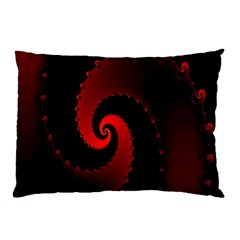 Red Fractal Spiral Pillow Case (two Sides)