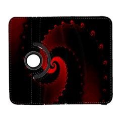 Red Fractal Spiral Galaxy S3 (Flip/Folio)