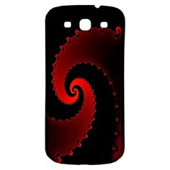Red Fractal Spiral Samsung Galaxy S3 S Iii Classic Hardshell Back Case