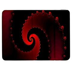 Red Fractal Spiral Samsung Galaxy Tab 7  P1000 Flip Case
